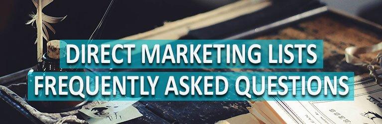 Direct Marketing List FAQs