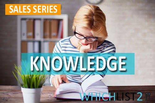 Knowledge - Sales Series Part 8